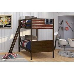 Donco Kids 1959-TTM Twin/Twin Patriot American Flag Bunk NEW