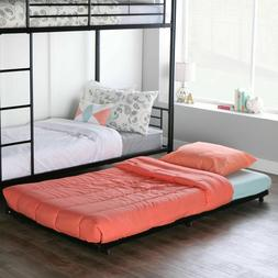 Walker Edison Twin Roll-Out Trundle Bed Frame, Black