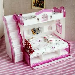 ABS Miniature Bunk Bed Model for 1:12 Dollhouse Children Bed