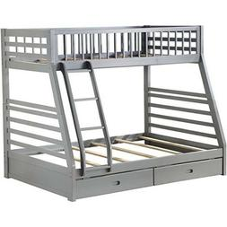 ACME Home Furniture Twin/Full Bunk Bed With 2 Drawers and Wo