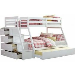 ACME Jason Twin over Full Storage Bunk Bed staircase 5 stora