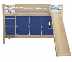 Aiden Bed with Slide and Tent for Boys