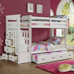 ACME Furniture Allentown Twin over Twin Bunk Bed with Trundl
