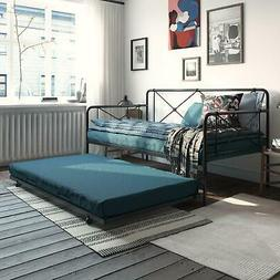 RealRooms Ally Metal Farmhouse Daybed with Trundle, Multiple