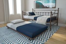 Bronze Finish Metal Daybed Frame Twin Full Bed WITH TRUNDLE