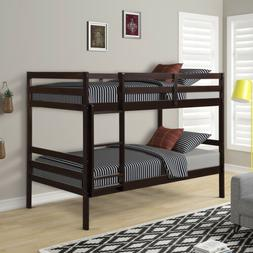 Bunk Bed Twin Over Twin Wood Convertible Bunk beds Kids Ladd