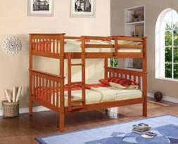 Bunk Beds for Kids in Light Espresso Finish
