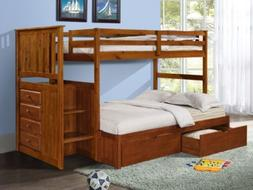 Bunk Beds with Storage Drawers, Stairs, and Built-in Dresser