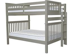 Bedz King Bunk Beds Full over Full with End Ladder, Gray