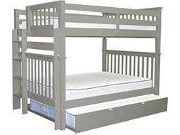 Bedz King Bunk Beds Full over Full with End Ladder and a Ful