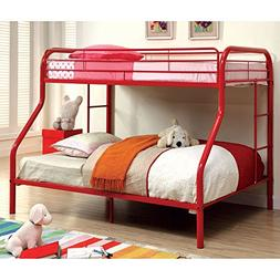 Carleen Modern Twin over Full Bunk Bed with Dual Sided Ladde