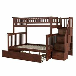 columbia twin over full staircase trundle bunk