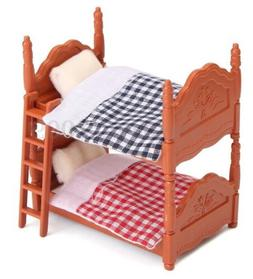 Dollhouse Furniture Bunk Bed 1:12 Calico Critter Sylvanian F