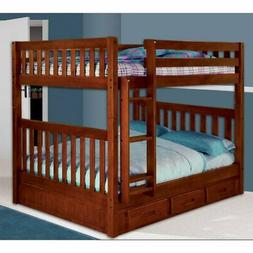 donco full over full mission bunk bed