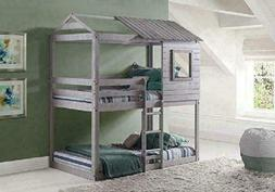 Donco Kids 1370-Ttlg Deer Blind Bunk Loft Bed, Twin/Twin, Li