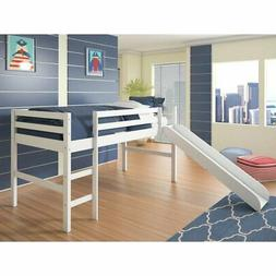 Donco Twin Low Loft Bed with Slide