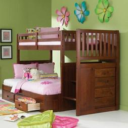 donco twin over full stairway bunk bed