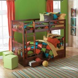Donco Twin over Twin Mission Bunk Bed - Merlot