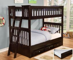 Discovery World Furniture Espresso Mission Bunk Bed Twin/Twi