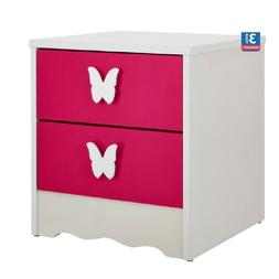 FF PRINCESS 2-DRAWER BEDSIDE TABLE Girls Room Butterfly Hand