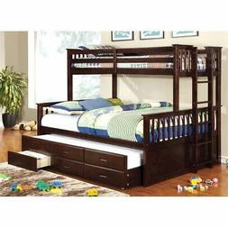 Furniture of America Frederick Twin over Queen Bunk Bed with