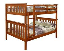 Full over Full Wood BUNK BED - DONCO KIDS Boys & Girls w/xtr
