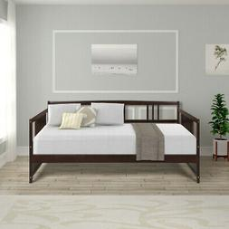 Full Size Wood Daybed with Support Legs White Platform Bed F