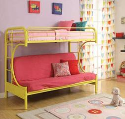 Futon Bunk Bed Twin Over Full Kids Bedroom Couch Space Savin