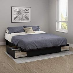 South Shore Gramercy Full/Queen Platform Bed  with Drawers,