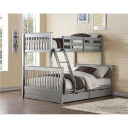 ACME Furniture Haley II Twin/Full Bunk Bed in Gray For Home