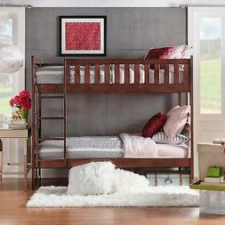 Hunter Traditional Dark Cherry Wood Bunk Bed And Trundle by