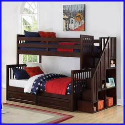 Caramia Kids Noah Twin over Full Staircase Bunk, Under-bed S