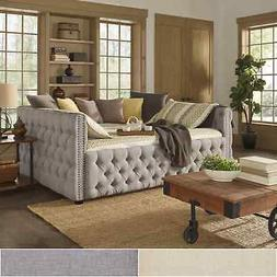 Knightsbridge Full Size Tufted Nailhead Chesterfield Daybed