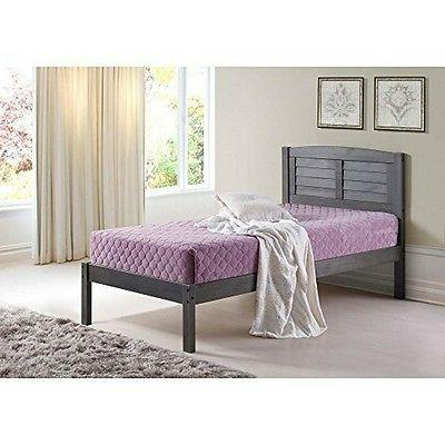 212fag full louver bed antique grey new