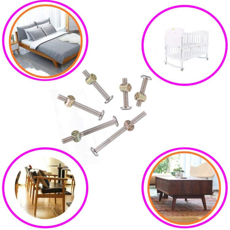 62Pcs Bunk Furniture Hardware Stainless