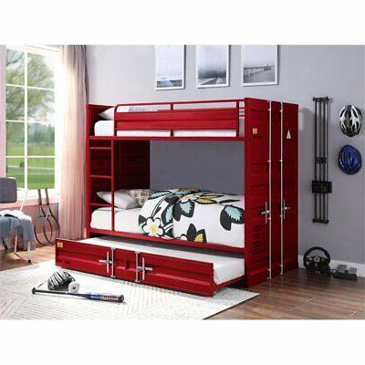 ACME Cargo Twin Twin Bed Red