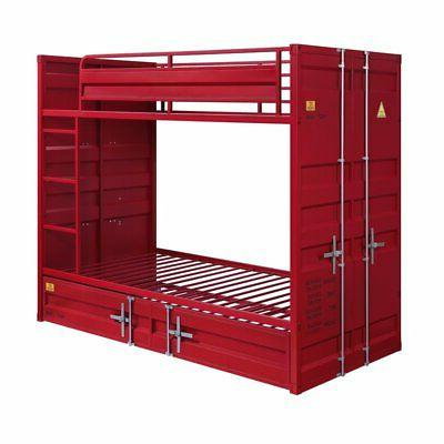 acme cargo twin over twin bunk bed