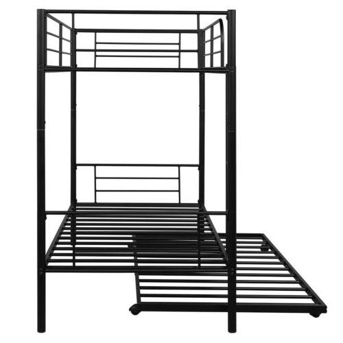 Black Twin Over Twin Frame for Bedroom