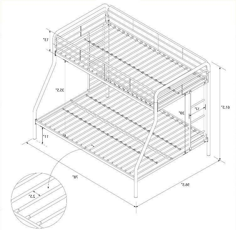 Bunk Bed Frame Over Full Kids Comfortable Space Saver