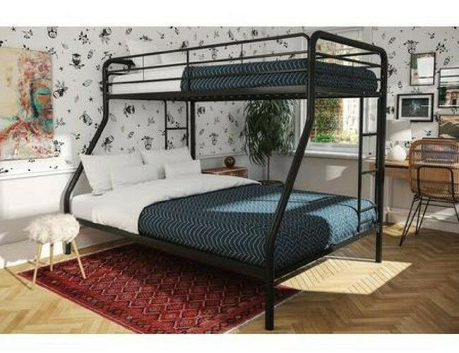 bunk bed twin over full metal frame