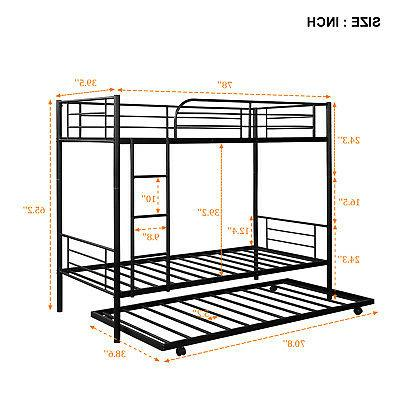 Bunk Over Twin Metal Loft With Kids