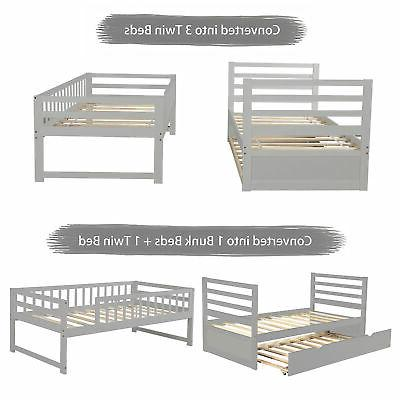 Bunk Bed Twin Solid Bed For
