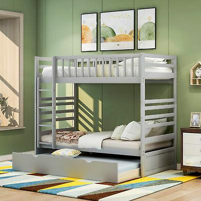 Bunk Bed Twin Solid Storage W/ For Adults