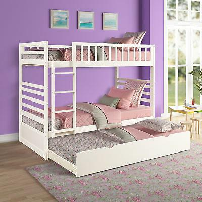 bunk bed twin over twin solid bed