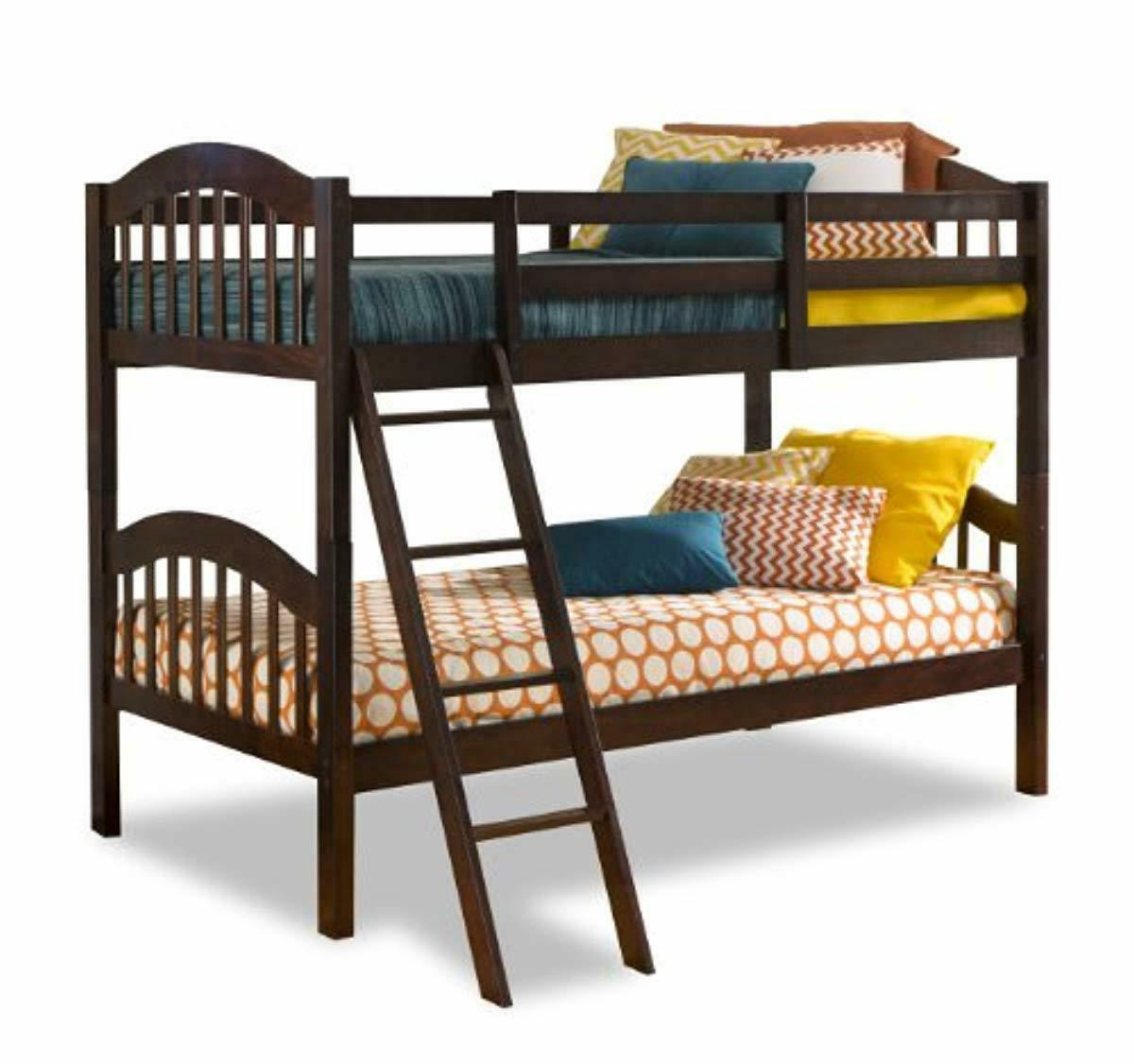 long horn solid hardwood twin bunk bed