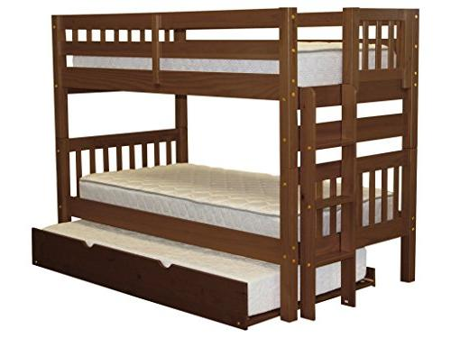 Bedz Beds Twin over Style and a Twin Espresso