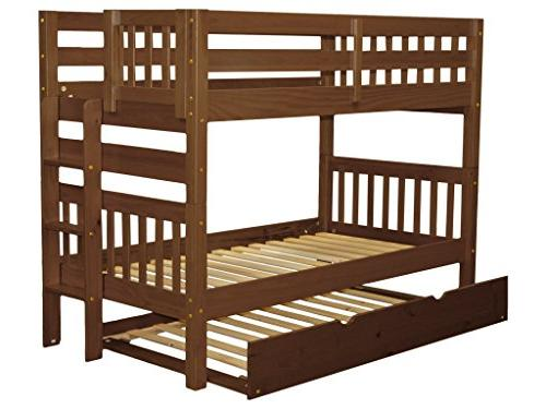 Bedz Twin Twin Style with End Ladder and Espresso