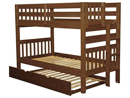 Bedz King Bunk Twin over Twin Style with and a Trundle, Espresso