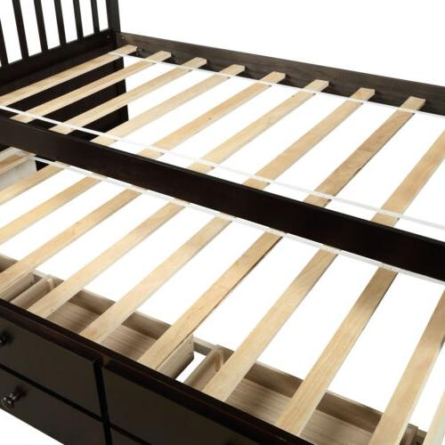 Captain's Bed Twin Daybed w/Trundle Bed and 6