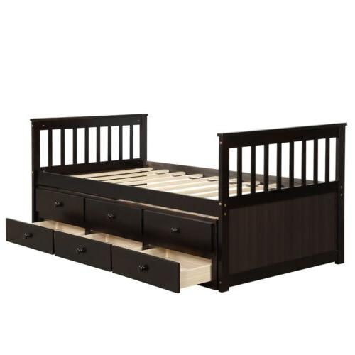 Captain's Bed frame Daybed and 6 Storage